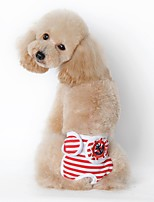 Dog Pants Dog Clothes Summer Spring/Fall Sailor Casual/Daily Black Red Blue