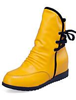 Damen-Stiefel-Lässig-Stoff-Flacher Absatz-Komfort-Schwarz Gelb Rot Weiß