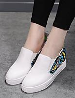 Черный / Белый-Женский-Для прогулок-Резина-На плоской подошве-Туфли Мери-Джейн-На плокой подошве