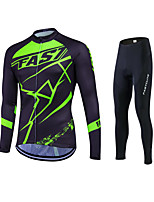 New Spring Autumn Long Sleeve Cycling Jersey Sets Breathable Gel Padded Bicycle Sportswear Cycling Clothings
