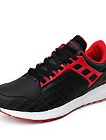 Masculino-Tênis-Conforto-Salto Baixo-Vermelho / Branco / Laranja-Couro-Ar-Livre / Casual / Para Esporte