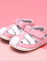 Girl's Sandals Summer Leather Casual Flat Heel Bowknot Blue Pink Others