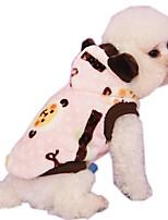 Katzen / Hunde Kapuzenshirts / T-shirt / Hemd / Weste Blau / Rosa Hundekleidung Winter / Frühling/Herbst TierNeujahr / warm halten /