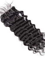8inch to 20inch Black 4x4 Closure Wavy Human Hair Closure Medium Brown Swiss Lace about 30g gram Average Cap Size
