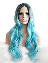 косплей серый градиент фигурные парик