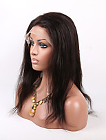 Peruvian Virgin Silky Human Hair Straight Lace Front Wigs With Baby Hair Be Ponytail For Africa Americans