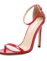 Women's Heels Spring / Summer / Fall / Winter Comfort PVC / Leather Wedding / Dress Stiletto Heel Buckle Plus size