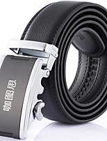 Katusi 6 New Mens Ratchet Belt Fashion Business Casual Style Genuine Leather 3.5cm Width kts6-1