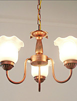 European Contracted Wrought Iron Chandelier