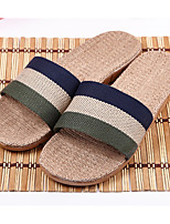 Men's Slippers & Flip-Flops Summer Slingback Linen Casual Flat Heel Others Blue / Green / Coffee / Burgundy Others