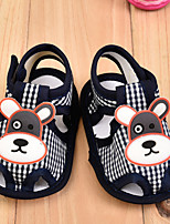 Unisex Sandals Summer Sandals Cotton Outdoor / Casual Flat Heel Animal Print Black / Blue / Pink / Red Walking
