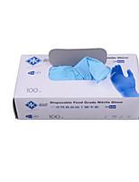 толстые одноразовые нитриловые перчатки среднего размера