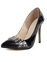 Mujer-Tacón StilettoTacones-Vestido Informal Fiesta y Noche-Cuero Patentado-Negro