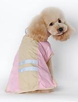Gatti / Cani Impermeabile Blu / Rosa Abbigliamento per cani Inverno / Primavera/Autunno Tinta unita Impermeabili