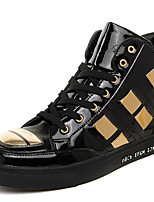 Men's Fashion Shoes Casual/Party & Evening/Youth Breathable Microfibre Middle-top Board Punk Shoe Black/Gold/Sliver