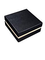 высококачественная кожа ремень черный коробка упаковки (спецификация 13см * 13см * 6см 2 упакованы для продажи)