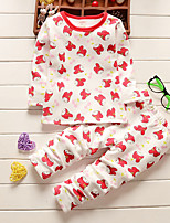Girl's Casual/Daily Print SleepwearCotton Fall Blue / Red