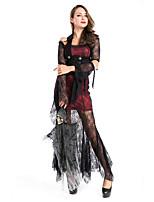 Costumes Vampire Halloween / Fête d'Octobre Noir Couleur Pleine Térylène Robe / Plus d'accessoires