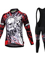 Sports® Cycling Jersey with Bib Tights Men's Long SleeveBreathable / Quick Dry / Front Zipper / Wearable / High Breathability (>15,001g)