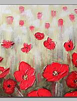 Ручная роспись Цветочные мотивы/ботанический Картины маслом,Пастораль 1 панель Холст Hang-роспись маслом For Украшение дома