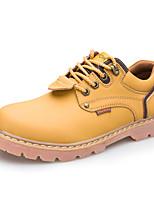 Черный Коричневый Желтый Кофе-Мужской-Повседневный-Кожа-На плоской подошве-Удобная обувь-На плокой подошве