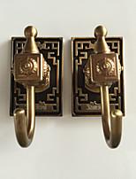 самоклеющаяся крюк робы с 3м наклейку обратно желто-бронзовые крючки 6шт / комплект yg6pc-4