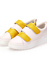 Women's Sneakers Spring / Fall / Winter Comfort PU Outdoor / Casual Flat Heel Hook & Loop Black / Yellow / Red Walking