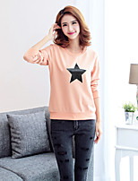 Casual/Daily / Sports Simple Regular HoodiesSolid Pink / Red / White / Gray / Green / Yellow Round Neck Long Sleeve