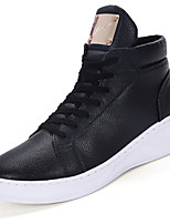 Черный Белый-Мужской-Для прогулок Повседневный Для занятий спортом Work & Safety-Полиуретан-На низком каблуке-Удобная обувь-Ботинки