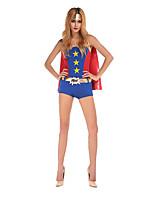Costumes Superhéros Halloween Rouge / Bleu Mosaïque Térylène Collant/Combinaison / Plus d'accessoires