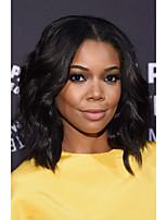 короткий боб естественная волна синтетических волос парики естественный черный термостойкие фронта шнурка для чернокожих женщин