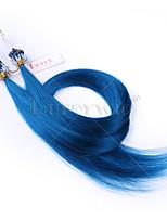 10a класс микро петли выдвижения кольца бусинки волос синий цвет шелковистая прямая 100grams бразильские виргинские человеческие волосы