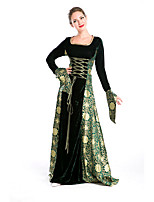 Costumes More Costumes Halloween Black / Green Print Terylene Dress / More Accessories
