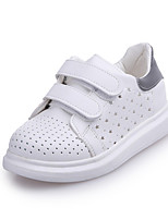 Unisex Sneakers Spring / Fall Comfort PU Casual Flat Heel Hook & Loop Gray / Black and White Sneaker