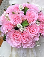 Свадебные цветы Круглый Розы Букеты Свадьба / Партия / Вечерняя Атлас 25 см