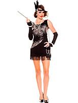 Costumes Plus de costumes Halloween Noir Couleur Pleine Térylène Robe / Plus d'accessoires
