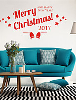 AYA DIY Wall Stickers Wall Decals Christmas Festival Merry Chritmas Style PVC Stickers 42*86cm
