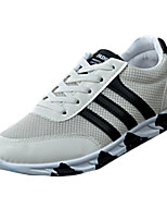Черный / Синий / Белый-Мужской-На каждый день-Полиуретан-На плоской подошве-Удобная обувь-Кеды