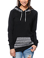 Women's Plus Size / Casual/Daily Vintage / Street chic Regular HoodiesColor Block National Style  Hooded Long Sleeve