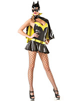 Costumes Super Heroes Halloween Yellow Patchwork Terylene Dress / Shawl / More Accessories