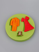 Food grade silicome skirt and suit shape sugarcraft cake decoration silicone mold