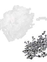 KWB 100-Pack Translucence Silicone Mounting Bracket for LED Strip Lights