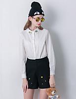 Damen Hose - Einfach Kurze Hose Wolle Unelastisch