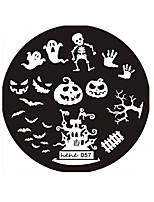 Halloween Design Round Stainless Steel Nail Plates