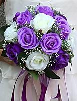 Hochzeitsblumen Rundförmig Rosen Sträuße Hochzeit / Partei / Abend Satin ca.25cm