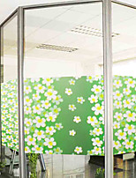 Country Colorful Leaves Pattern Window Film