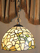 25W Pendant Light   Rustic/Lodge / Tiffany / Vintage Painting Feature for Mini Style Metal Bedroom / Entry