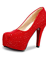 Women's Heels Summer Heels PU Casual Stiletto Heel Sequin Red / Silver Others