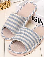 Men's Slippers & Flip-Flops Fall Slingback Linen Casual Flat Heel Others Blue / Dark Gray Others