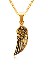 Eagle Wings and 18K Gold Necklace Men